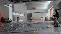 腾讯重庆北碚项目部石材养护施工现场图